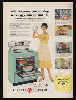 1959 ge general electric turquoise range ad