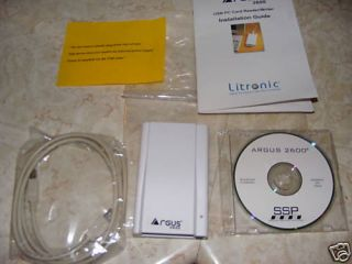 Argus 2600 USB Smart Card Reader Kit New w Drivers