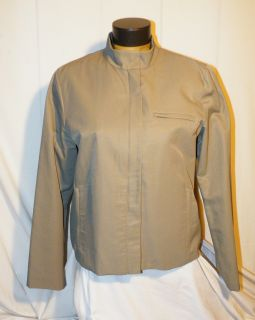 EILEEN FISHER Gray Cotton Nylon Jacket M ~ Fully Lined