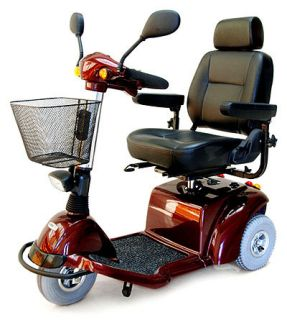 Activecare Pilot 3 Wheel Electric Mobility Scooter Red