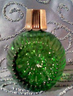 AVON SWEET HONESTY COLOGNE CHRISTMAS FESTIVE FACET GREEN GLASS FULL