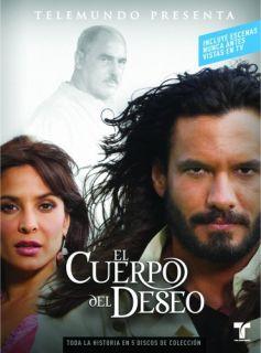 El Cuerpo Del Deseo New 5 DVD Telemundo Telenova The Body of Desire