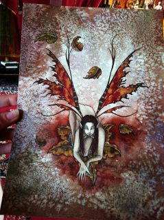 Amy Brown Original Fairy Painting Something Wild 3