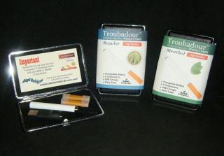 Troubadour E Cigs Electronic Cigarette Starter Kit w Case New SEALED
