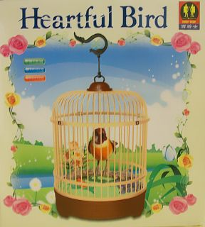 Heartful Bird Singing Hanging Motion Activated Electronic Pet Toy