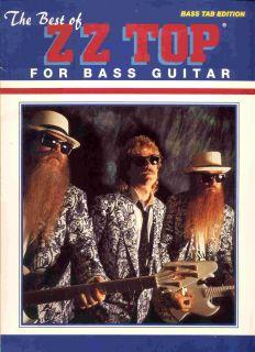 Best Song Book Bass Guitar Tab Tablature 1992 Dusty Hill Zztop