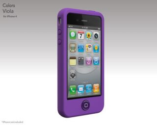 New Design Purple Silicone Case Cover for Apple iPhone 4S 4 4G Screen