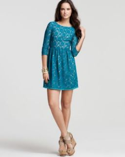 French Connection New Anna Green Lace Elbow Sleeve Semi Formal Dress 6