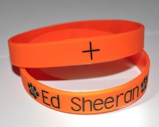 Ed Sheeran Plus Bright Orange Silicone Wristband Bracelet Think