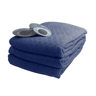 Biddeford Diamond Weave Electric Heated Warming Blanket
