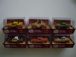 AW AUTO WORLD SIX DIRTY DUKES OF HAZZARD SLOT CAR SET BRAND NEW IN