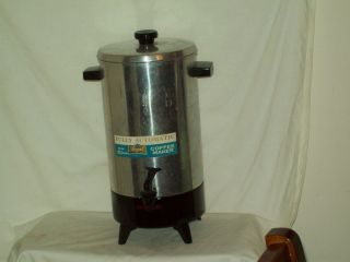 Vintage Electric Percolator Automatic Coffee Maker American made Regal