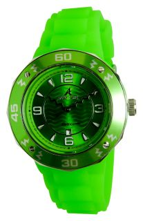 New Adee Kaye Ladies IP Green Dial Date Watch AK5567 L
