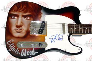 ELIJAH WOOD Signed LORD OF THE RINGS Guitar PSA/DNA UACC RD COA