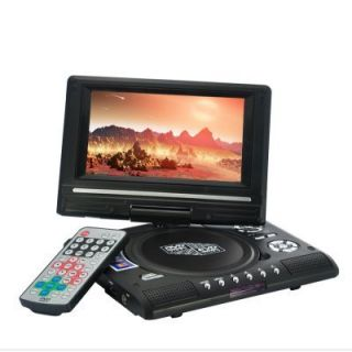 PORTABLE MULTIMEDIA DVD PLAYER WITH 7 INCH WIDESCREEN SWIVEL SCREEN w