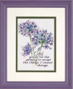 Dimensions Counted Cross Stitch Kit 5 x 7 Serenity Prayer Sale 65100