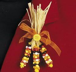 Corn Beaded Pin Craft Kit Thanksgiving Autumn Harvest Jewelry