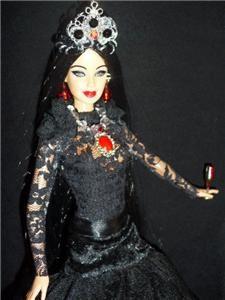 Countess Elizabeth Báthory Bathory Barbie Doll OOAK Hungarian Vampire