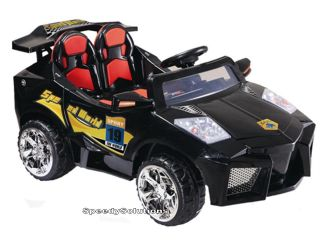 New Power 2 Seat Kids Ride on Electric Radio Remote Control Wheels Car