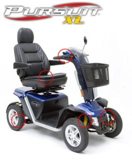 Pride Mobility Pursuit XL Heavy Duty 4 Wheel Electric Scooter