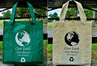 Earth Reusable Eco Vegan Recycle Travel Shopping Tote Bags