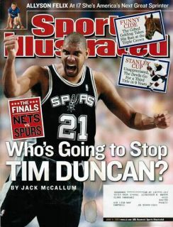 Sports Illustrated 2000 NBA Tim Duncan San Antonio Spurs Basketball