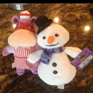 NWT Disney Store 8 10 Doc Mcstuffins PLUSH hippo Hallie Set Chilly