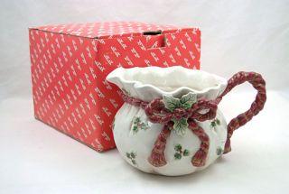 fitz floyd 1 1 2 qt santa s bag christmas pitcher fitz floyd 1 1 2 qt