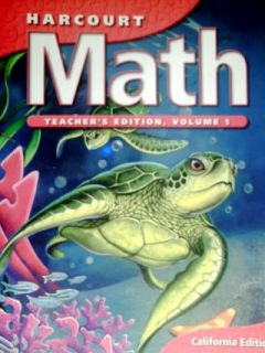 Harcourt Math 4th Grade 4 Teachers Edition Volume 1 2