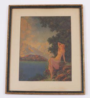 Eggleston 30s Gorgeous Art Deco Fantasy Themed Framed Pin Up Print