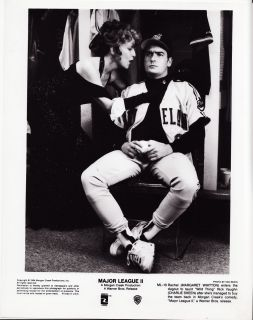 RARE Major League II Charlie Sheen Margaret Whitton Studio Publicity