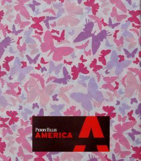 Perry Ellis Papillion Butterflies Pink Purple 4pc Full Sheets Bedding