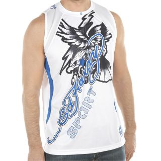 Ed Hardy White Mens Eagle Mesh Tank Top White