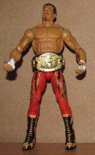 EDDIE GUERRERO wwe wwf MATTEL LEGENDS 6 ELITE wrestling FIGURE + TITLE