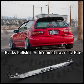 POLISHED LOWER REAR SURFRAME TIE BAR HONDA CIVIC EG INTEGRA DC DA JDM