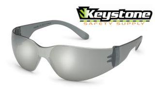 Silver Mirror Small Frame Starlite Safety Sun Glasses