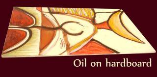 Expressive Original Signed Oil Painting Artist Diego Castro