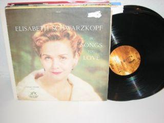 Elisabeth Schwarzkopf Songs You Love 12 LP Angel s 1 35383