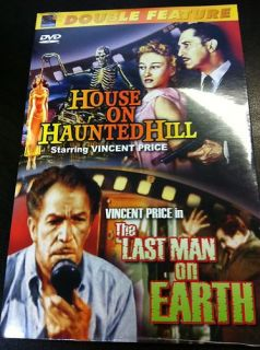 Horror Double Feature House on Haunted Hill The Last Man on Earth DVD