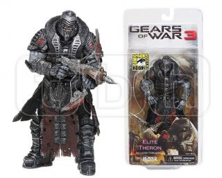 Elite Theron Black Onyx Armored Gears of War 3 Figure 2012 SDCC Comic