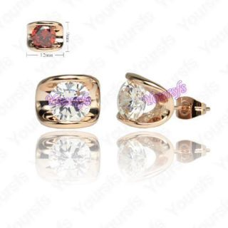 Plated Ear Pin Dazzling Swarovski Crystal Fashion Studs Earring