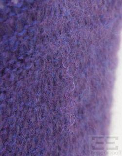 Emanuel Ungaro Purple & Blue Mohair Open Knit Sweater Size Large