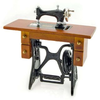 Antique Metal Black Sewing Machine Table 1 12 Dolls House Dollhouse