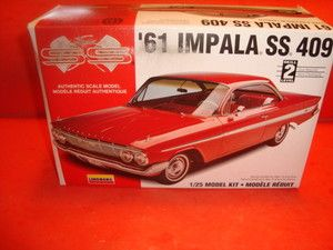 Lindberg 1961 Chevy Impala SS 409 UNB Model Car Kit