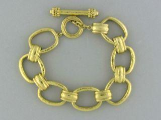 Elizabeth Locke 19K Yellow Gold Chain Link Toggle Bracelet