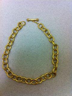 Elizabeth Locke 18K Yellow Gold Volterrra Link Necklace