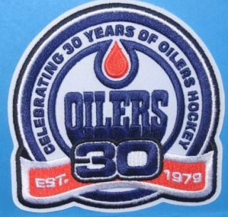 Edmonton Oilers 30th Anniversary Patch NHL Jersey Crest