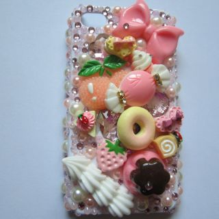 Many Resin Desserts Set DIY Deco Kit for Cell Phone iPhone 4G 4S 5