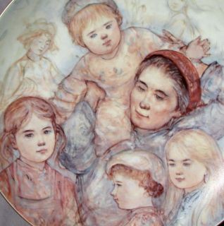 Edna Hibel Scandinavian Mothers Day 1988 Tender Moment