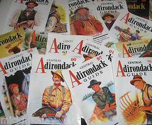 LOT Adirondack Guide COVER ART Nadeau Hunting Fishing u frame Cabin